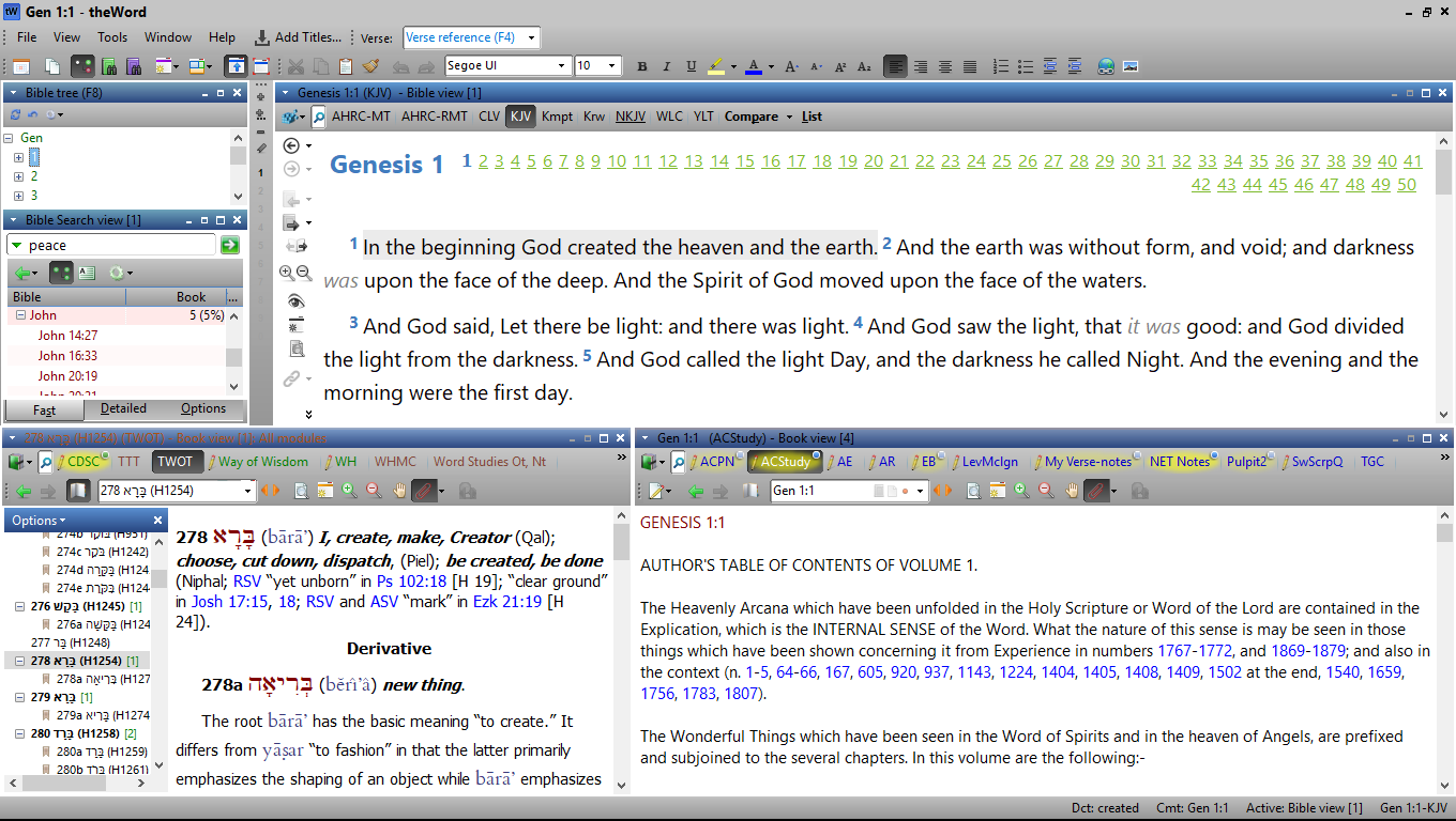 Swedenborg's Writings in TheWord Bible Software